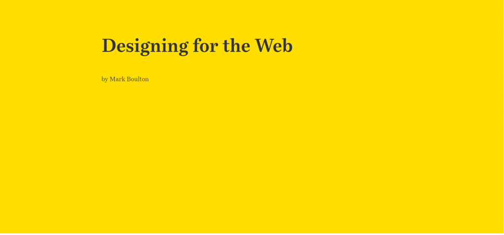 Designing For The Web Free Programming E Books