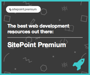 Start your free SitePoint Premium trial today!